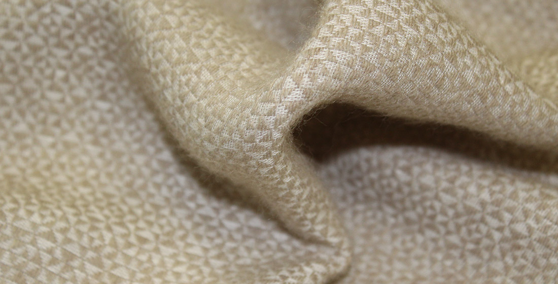 White and beige fabric